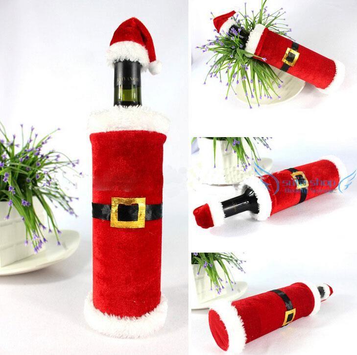 Porta bottiglia vino di babbo natale idee regalo per - Idee regalo di natale per casa ...