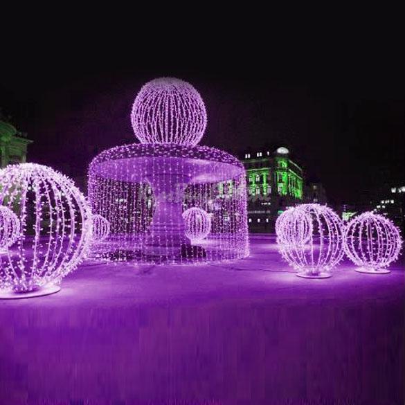 Luci di natale per esterni a led 10mt bianche luci di - Sfere illuminazione giardino ...